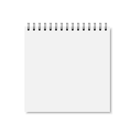 Illustration for Vector white realistic closed notebook cover. - Royalty Free Image