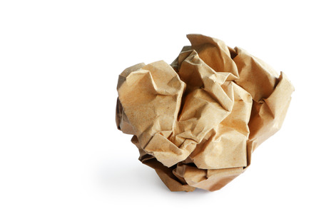 Foto de Recycle paper rubbish isolated on white background, clipping path. - Imagen libre de derechos