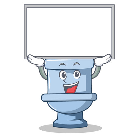 Illustration pour Up board toilet character cartoon style - image libre de droit