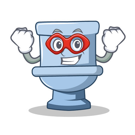 Illustration pour Super hero toilet character cartoon style - image libre de droit