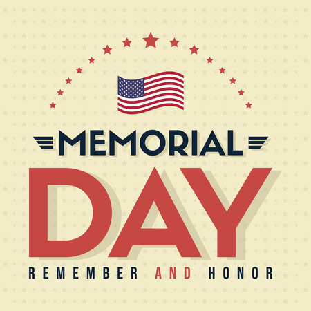 Ilustración de Happy memorial day poster card vector illustration - Imagen libre de derechos