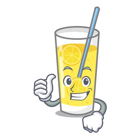 Ilustración de Thumbs up lemonade character cartoon style vector illustration - Imagen libre de derechos