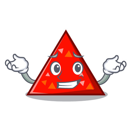 Illustration pour Grinning triangle character cartoon style vector illustration - image libre de droit