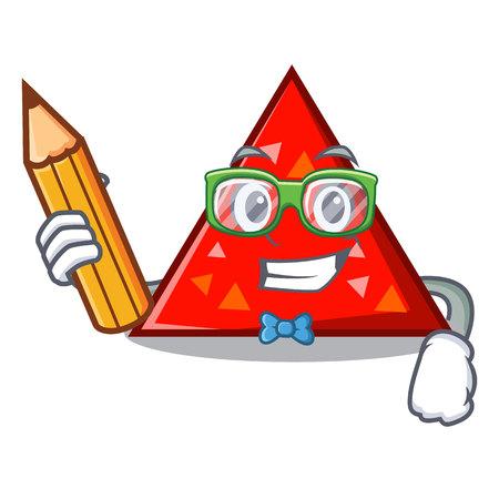 Illustration pour Student triangle character cartoon style vector illustration - image libre de droit