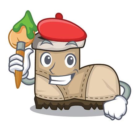 Ilustración de Artist working boots Isolated on the mascot vector illustration - Imagen libre de derechos