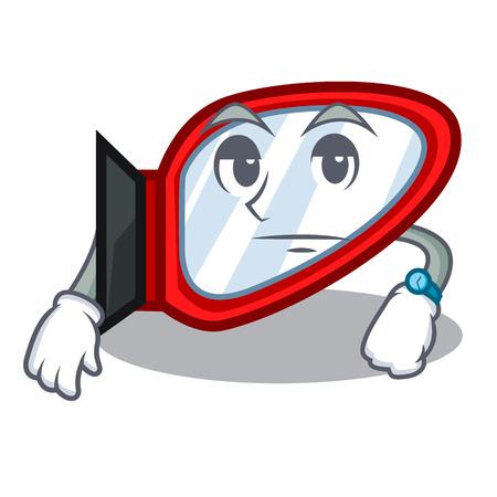 Illustration pour Waiting side mirror next the mascot table vector illustration - image libre de droit