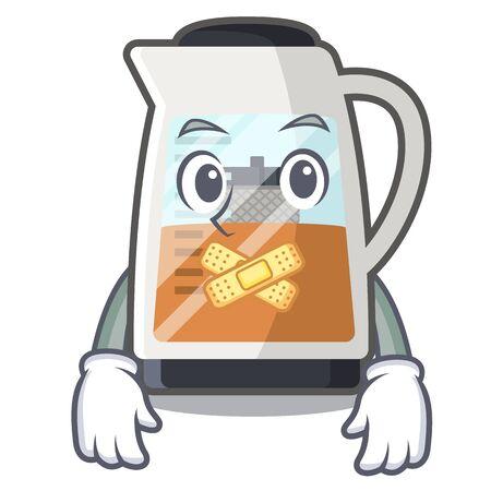 Ilustración de Silent tea maker in the character refrigerators - Imagen libre de derechos