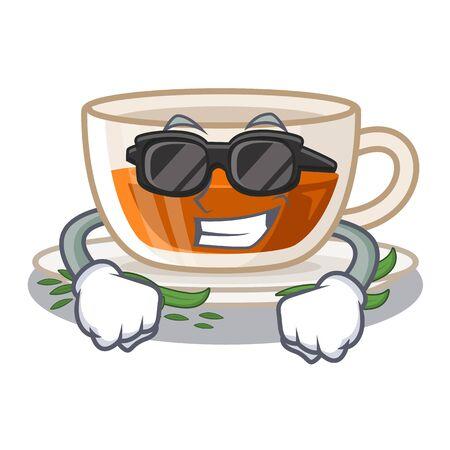 Ilustración de Super cool darjeeling tea in the mascot shape vector illustration - Imagen libre de derechos