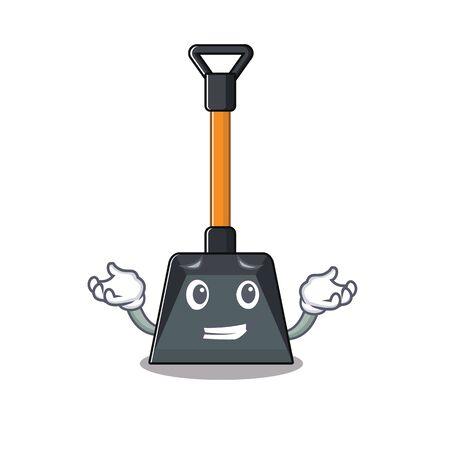 Illustration pour Super Funny Grinning snow shovel mascot cartoon style. Vector illustration - image libre de droit