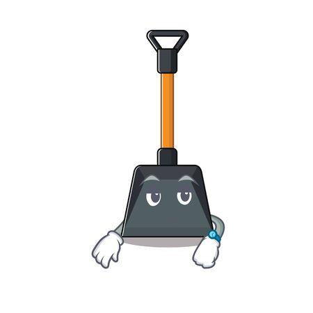 Illustration pour cartoon character design of snow shovel on a waiting gesture. Vector illustration - image libre de droit
