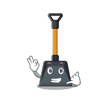 Illustration pour Call me funny snow shovel mascot picture style. Vector illustration - image libre de droit