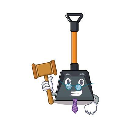 Illustration pour Smart Judge snow shovel in mascot cartoon character style. Vector illustration - image libre de droit