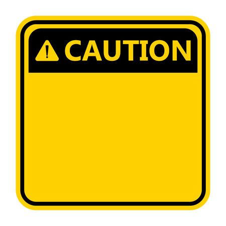Ilustración de symbol yellow caution sign icon,Exclamation mark ,Warning Dangerous icon on white background - Imagen libre de derechos