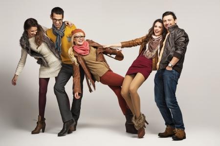 Foto de Group of young friends having fun together - Imagen libre de derechos