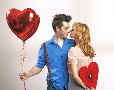 Photo for Attractive happy couple during valentine's day - Royalty Free Image