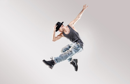 Photo for Fashion shot of a talented hip hop dancer - Royalty Free Image