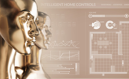 Foto de Artificial intelligence concept - smart house - Imagen libre de derechos