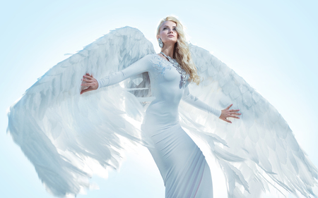 Photo for Portrait of an elegant, blond archanangel - Royalty Free Image