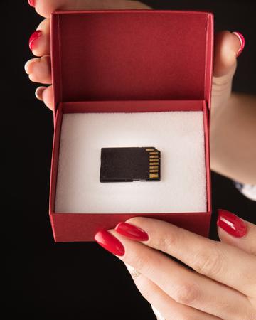 Photo pour Conceptual picture of a microSD - backup symbol - image libre de droit