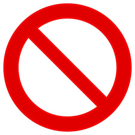 Illustration pour No sign on white background. Vector illustration. - image libre de droit