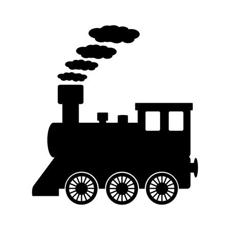 Illustration pour Locomotive icon on white background. Vector illustration. - image libre de droit
