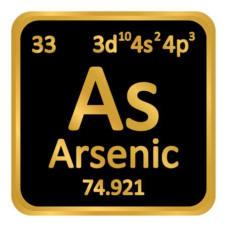 Illustration pour Periodic table element arsenic icon on white background. Vector illustration. - image libre de droit