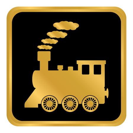 Illustration pour Locomotive button on white background. Vector illustration. - image libre de droit