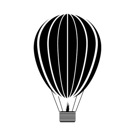 Illustration pour Aerostat icon on white background. Vector illustration. - image libre de droit