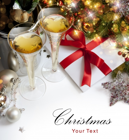 Photo for Glasses of champagne at New Year's Eve - Royalty Free Image