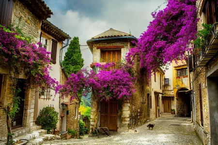 Photo pour beautiful old town of Provence - image libre de droit