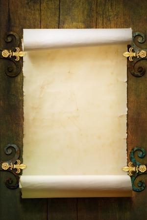 Photo pour Art Scroll old paper background - image libre de droit