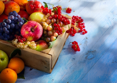 Photo for Art abstract market background fruits on a wooden background - Royalty Free Image