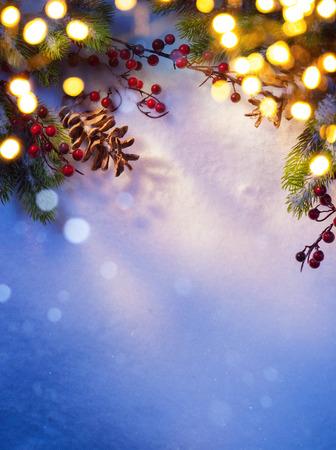 Foto de Art snowy Christmas background; - Imagen libre de derechos