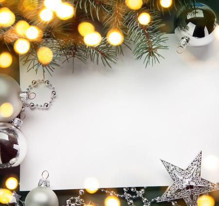 Foto de art christmas holiday background; tree light - Imagen libre de derechos
