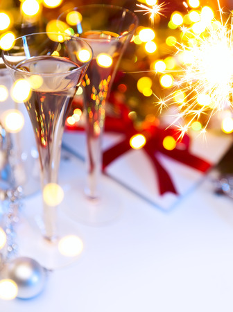 Photo for Art Christmas or new years party - Royalty Free Image