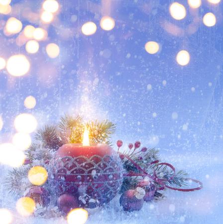 Foto de Christmas  holiday background - Imagen libre de derechos