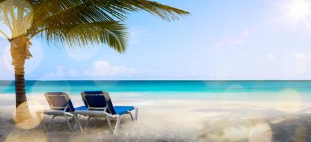 Photo pour art vacation on the sea, background - image libre de droit