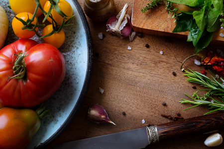 Foto per art food and cooking background - Immagine Royalty Free