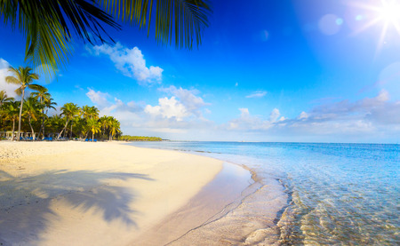 Photo for Summer tropical Beach; Peaceful vacation background - Royalty Free Image