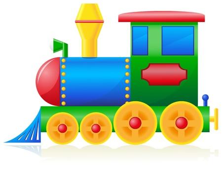 children locomotive illustration isolated on white background