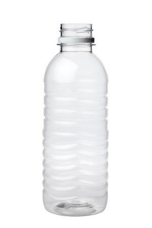 Foto de Empty plastic bottle isolated on white background - Imagen libre de derechos