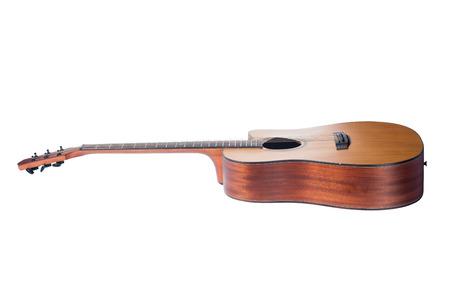 Foto de acoustic guitar isolated on white background - Imagen libre de derechos