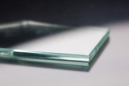 Photo pour Glass roving fibre for pultrision process. Window fiberglass profile manufacturing. Plate glass, machined edge - image libre de droit