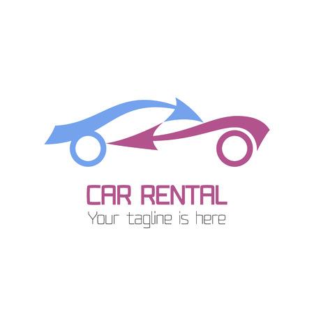 Foto de Vector car rentals label. Vector logo design template. Concept for automobile repair service, spare parts store - Imagen libre de derechos