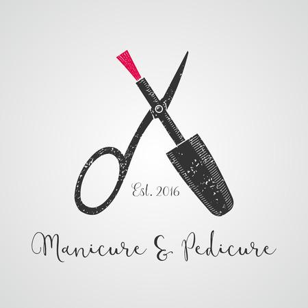 Illustration pour Nails vector logo. Sign, design element, illustration for manicure salon - image libre de droit