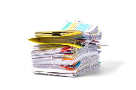 Photo pour Stack of Documents isolated on white background - image libre de droit