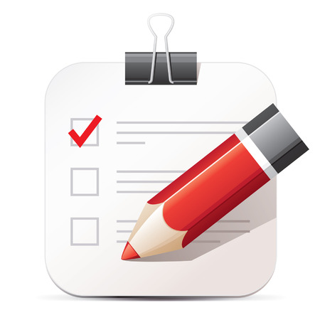 Illustration pour Checklist and pencil icon - image libre de droit