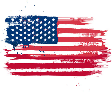 Illustration pour Vector isolated USA flag in grunge style - image libre de droit