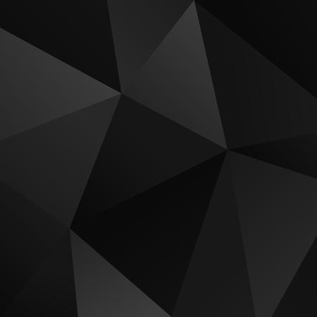 Ilustración de Black vector simple triangle geometric background - Imagen libre de derechos