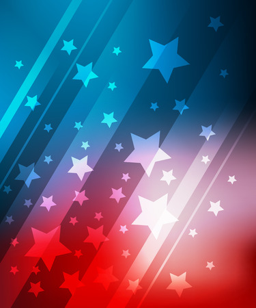 Ilustración de Blue and red background with stars for 4th july  - Imagen libre de derechos